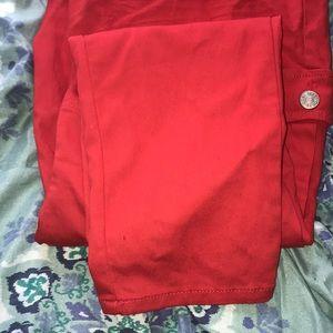 Denim - Red skinny jeans